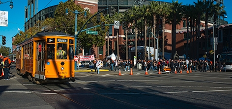 Milan Streetcar at Oracle Park