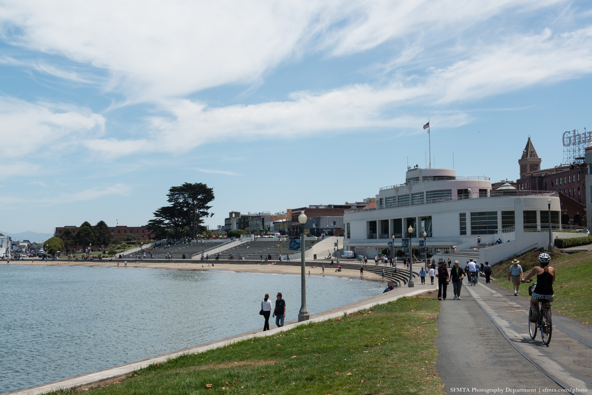 A daytime view of Aquatic Park