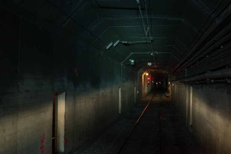 Tunnel Approaching Abandoned Eureka Station inside Twin Peaks Tunnel | September 19, 2015