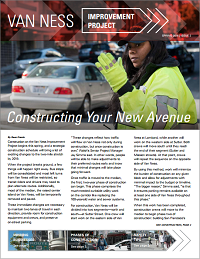 Cover of spring 2016 Van Ness Improvement Project newsletter