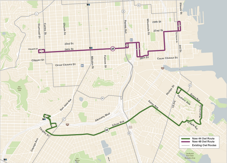 Muni Forward: Two New Owl Routes Launch This Weekend | SFMTA