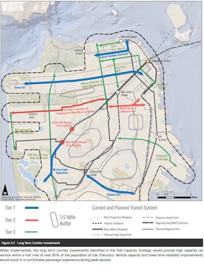 Muni Subway Map.A 21st Century Plan To Grow Sf Rail Sfmta