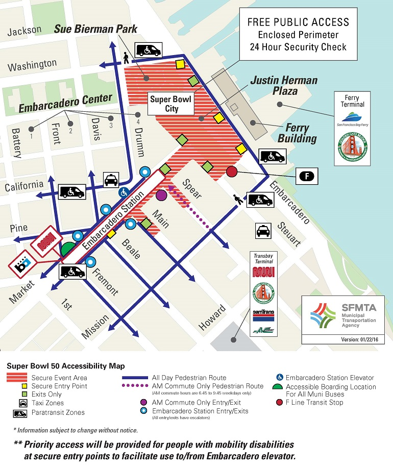 Super Bowl 50 Paratransit and Accessibility Details SFMTA