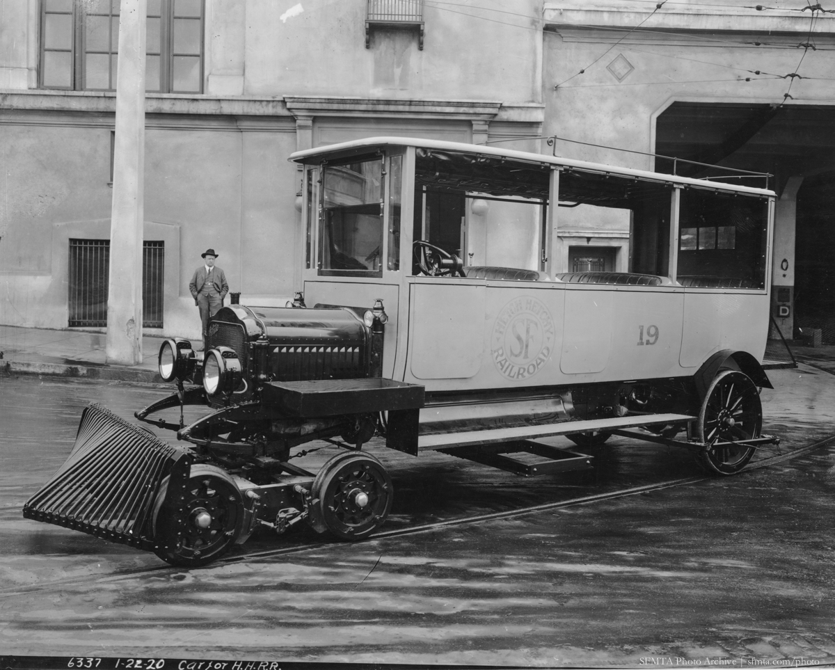 Motor Coach 19, Modified for use on the Hetch Hetchy Railroad | January 22, 1920 | W6337