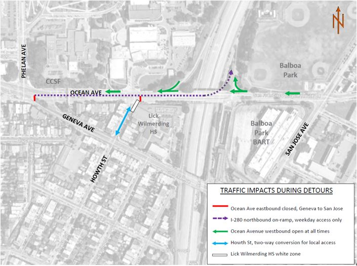This Friday Ocean Ave to See OneMonth Traffic and Muni Changes