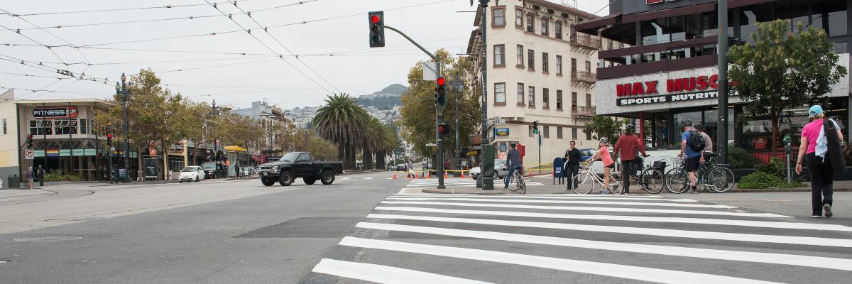 Photo of Market and Noe street crosswalk