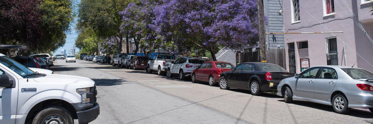 Photo of cars parked in Dogpatch