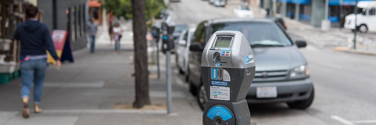 Metered parking on Washington Street