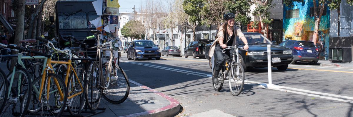 cyclist on valencia