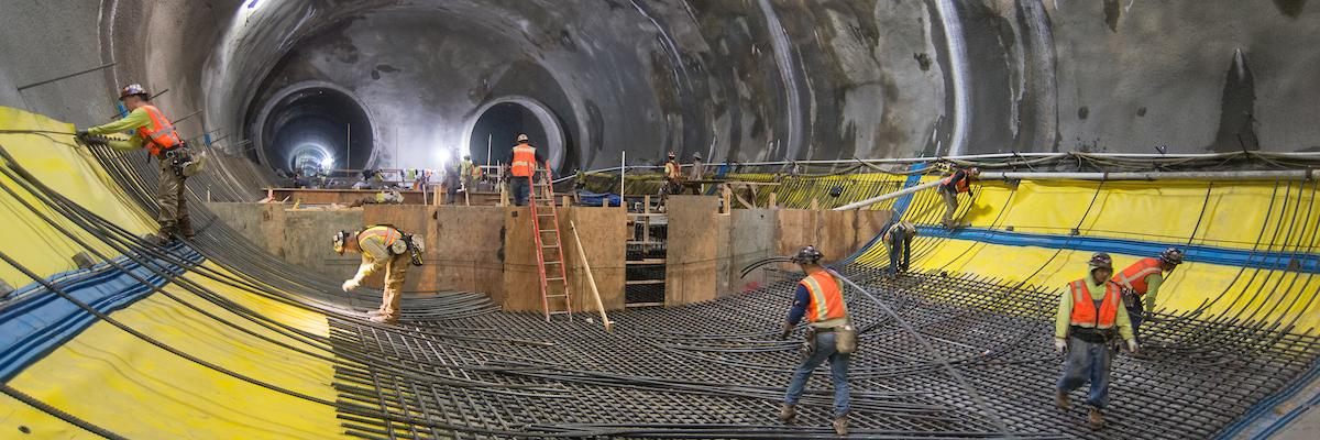 Photo of Central Subway construction