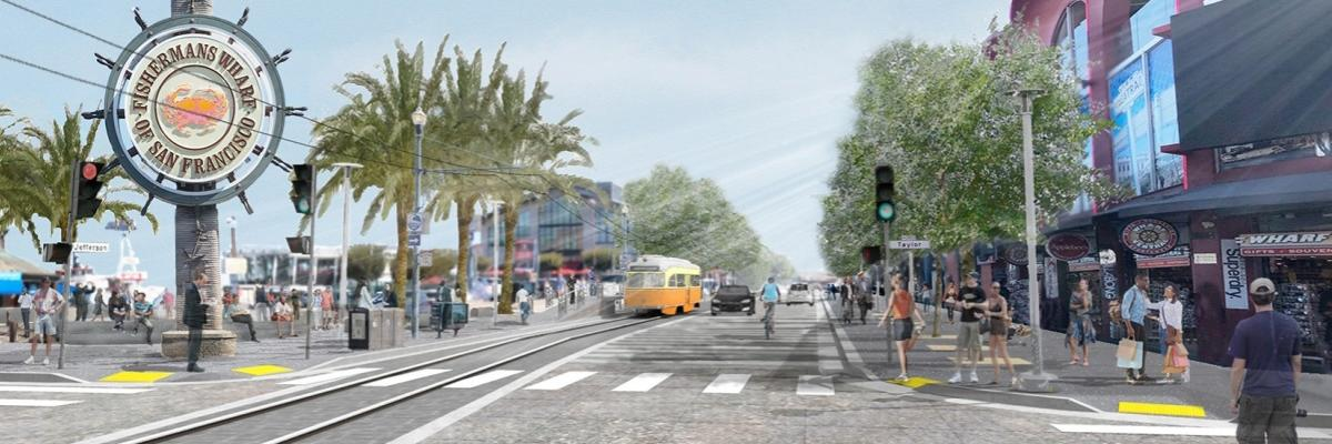 rendering of Jefferson street after streetscape project