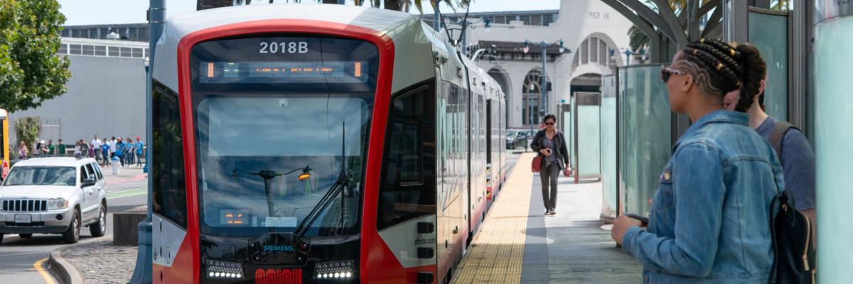 New LRV4 pulling up to an outdoor platform