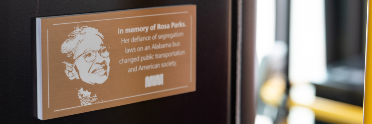 Plaque celebrating the legacy of Rosa Parks