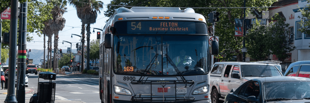 54 Felton bus in the Bayview