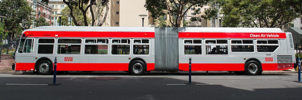 60-foot Muni Bus