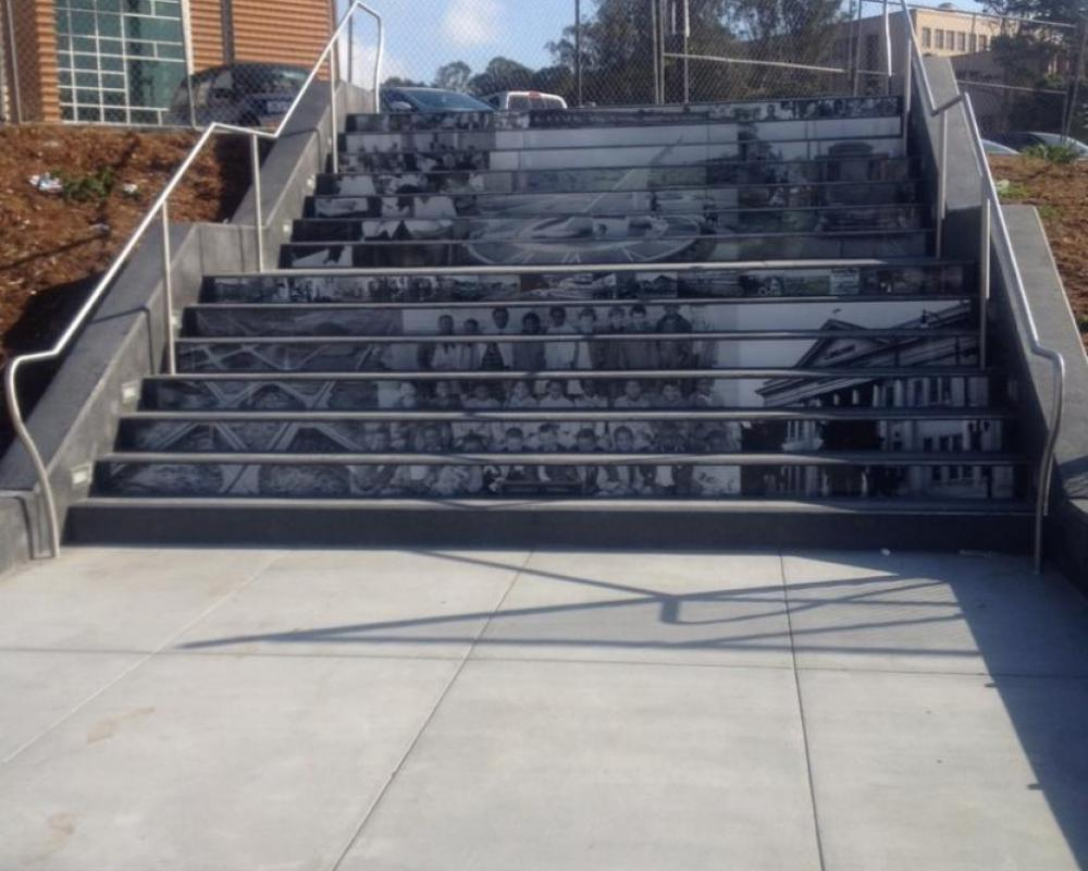 Pedestrian Connector Steps