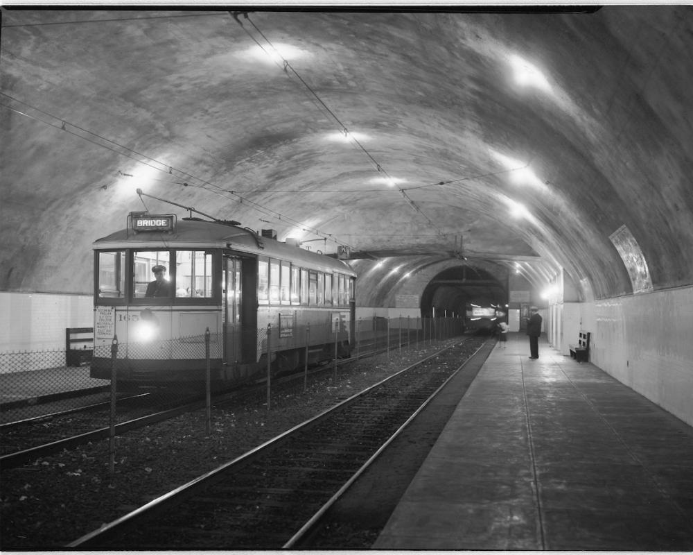 Forest Hill Station inside Twin Peaks Tunnel, circa 1920s