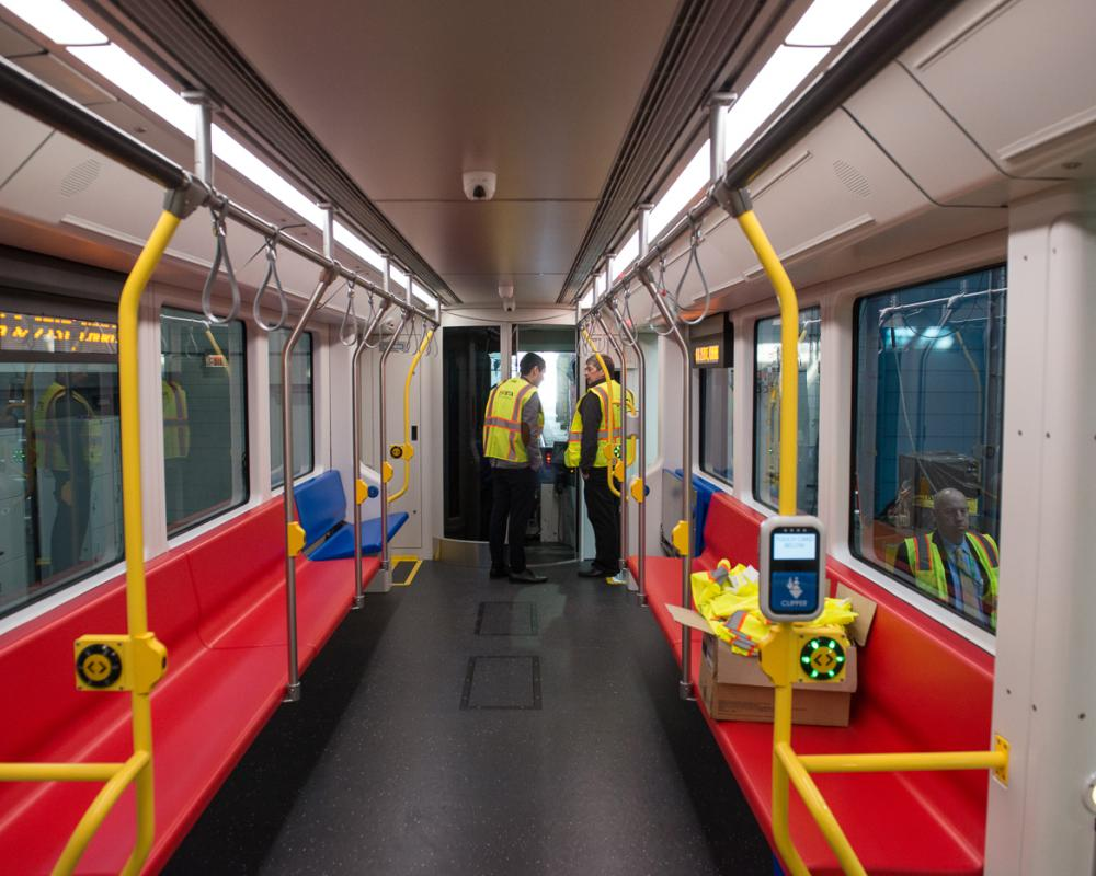 interior view of seating in new LRV