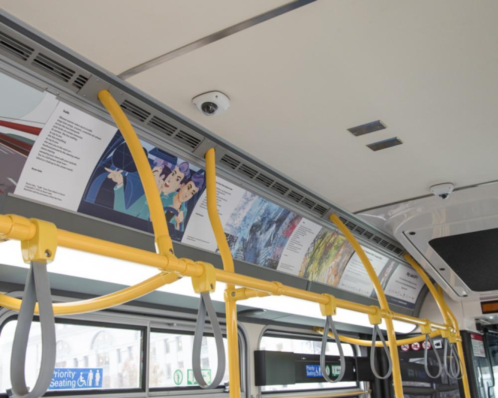 artwork in bus