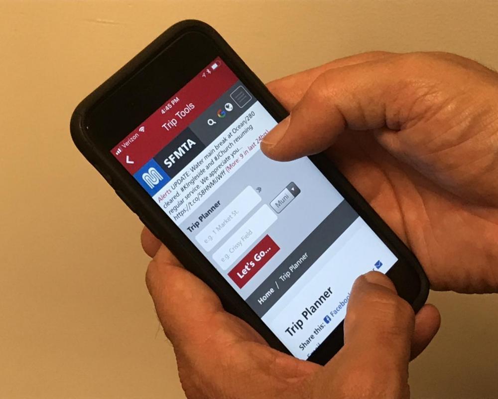 iPhone Screenshot of MuniMobile Trip Planner