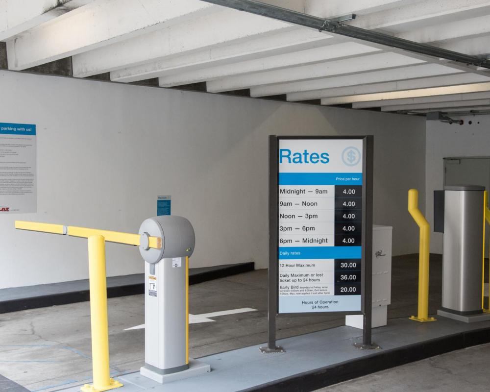 New PARCS Equipment and Signage at North Beach Parking Garage