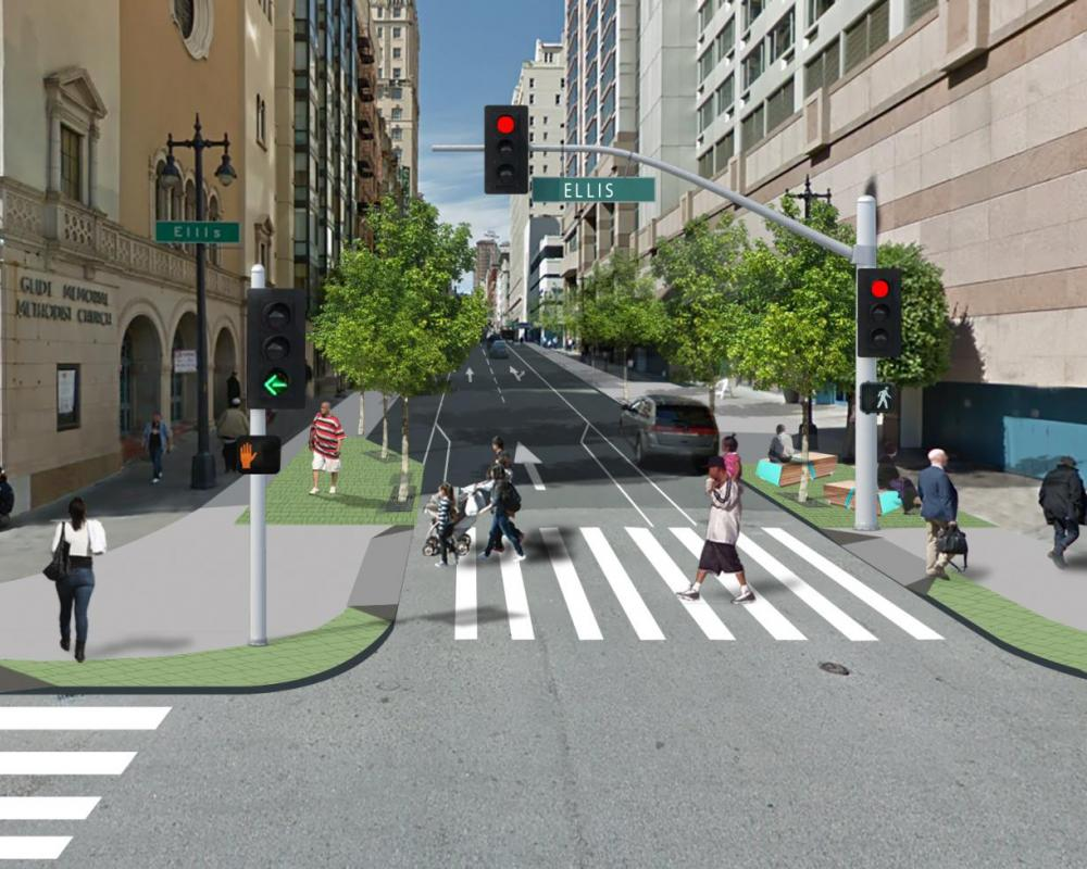 Safer Taylor Conceptual Intersection Design (Taylor & Ellis)