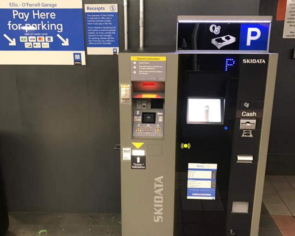 Ellis O'Farrell Garage  - New Pay Station