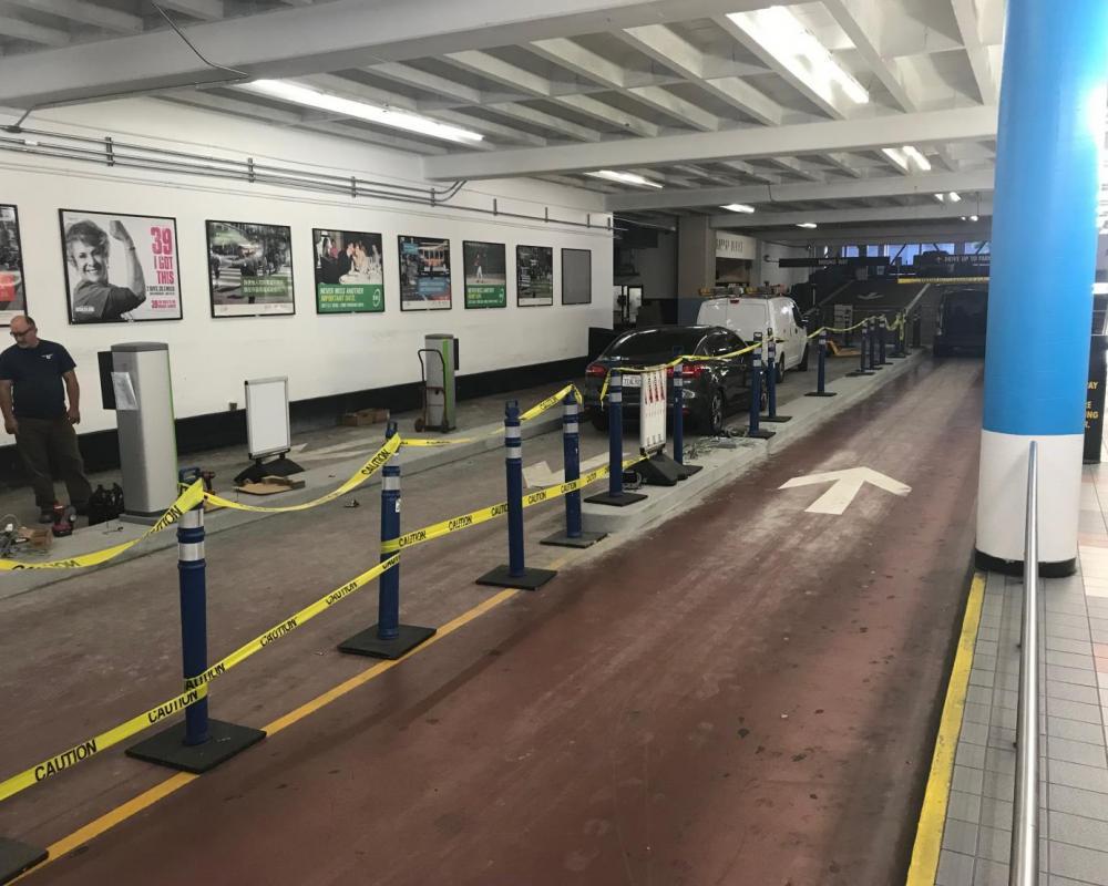 Ellis O'Farrell Garage  - Street Install