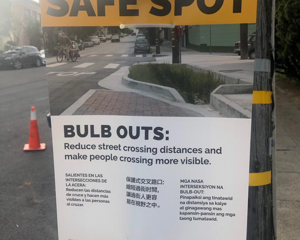 Vision Zero SF At Work Bulb Out