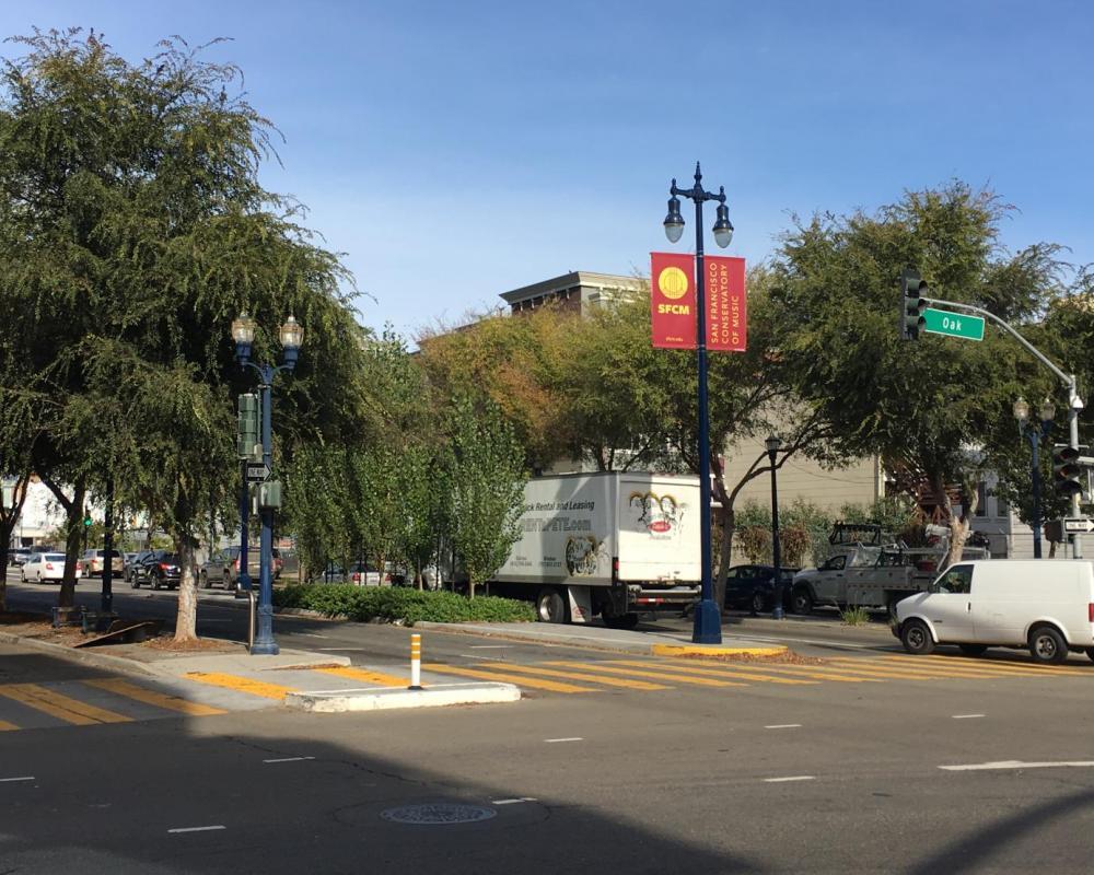 Landscaped center median on Octavia