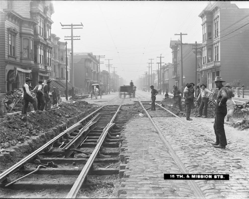 streetcar track construction