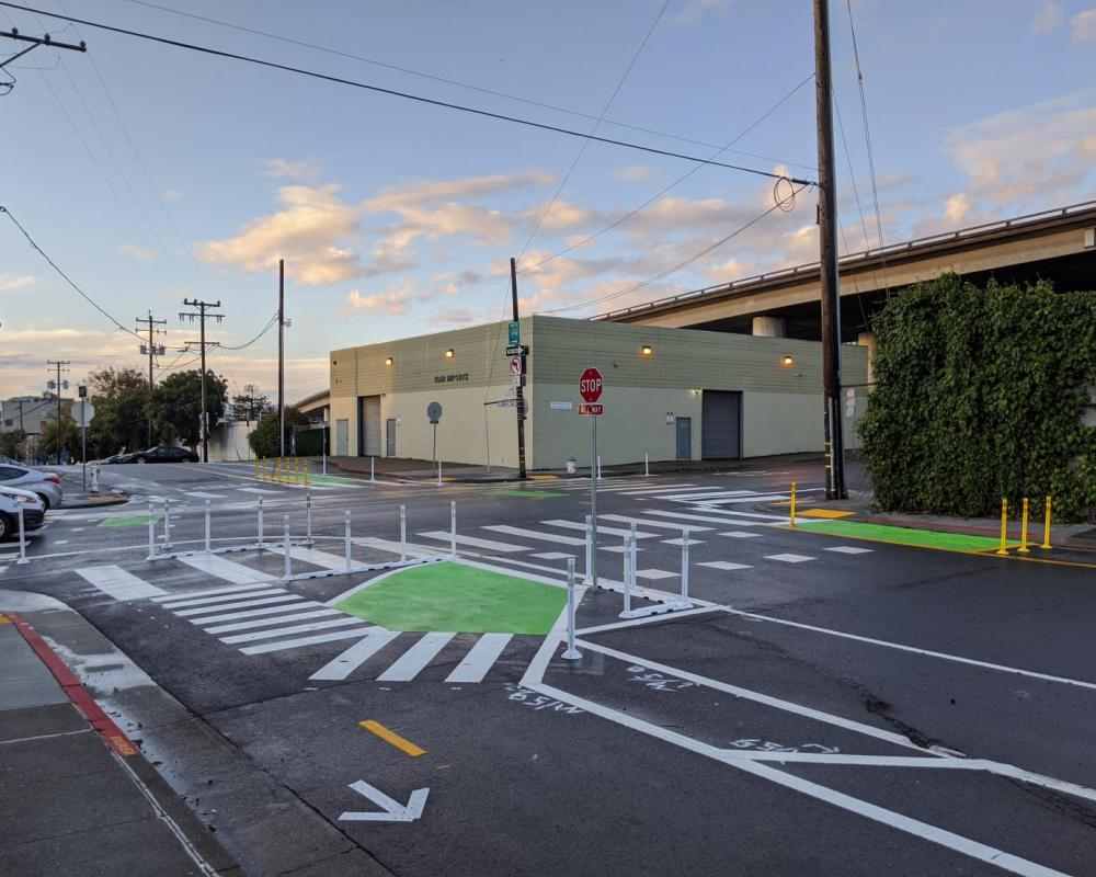 New bikeways at the intersection of Indiana and 25th