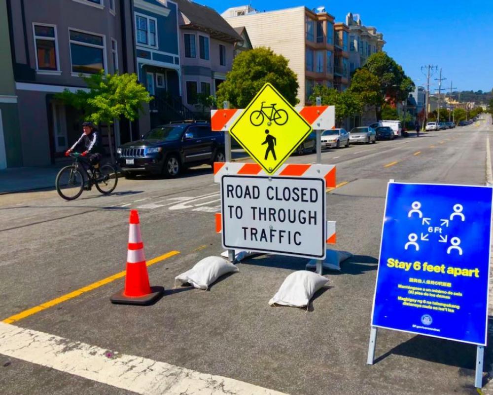Slow Street barricade
