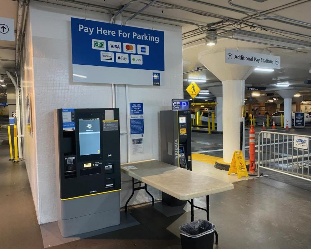 Union Square - Completed - Geary Street Side Pay Stations