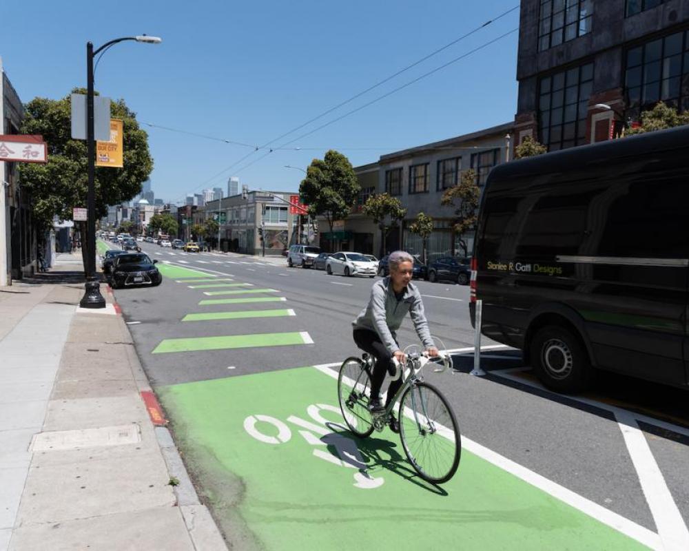 Bike lane on Howard and 9th St. (2019)