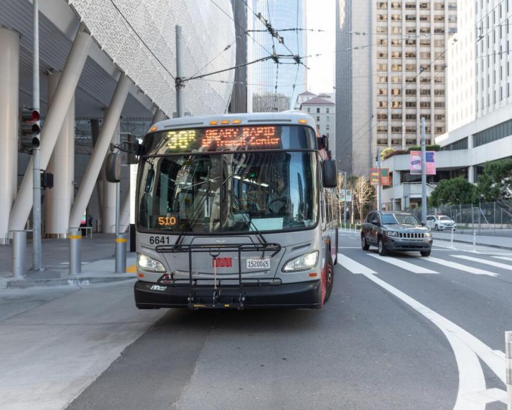 38R Muni bus on Beale Street