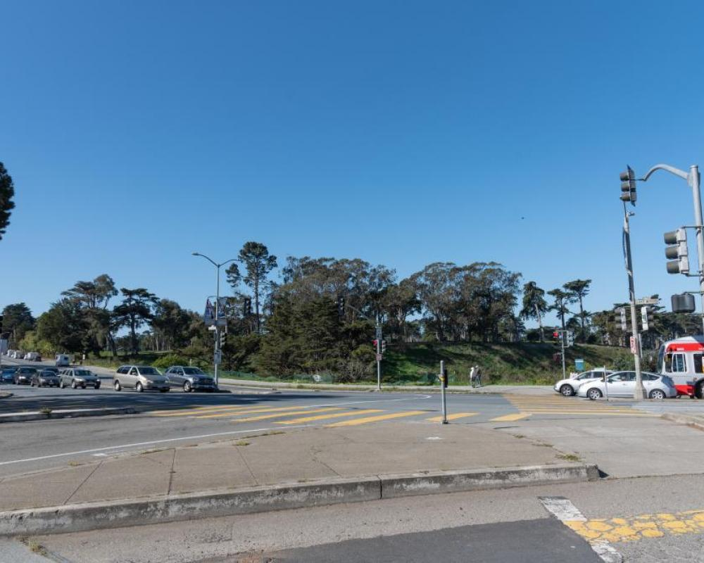 Lake Merced Boulevard and Winston Drive (existing conditions)