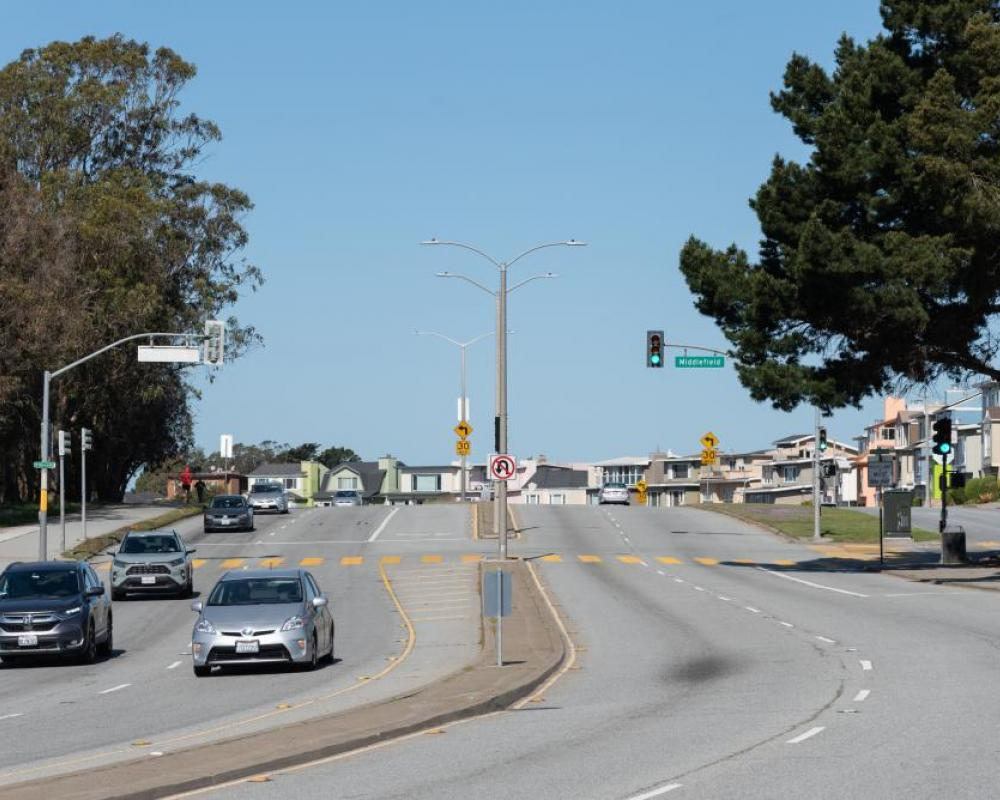 Lake Merced Boulevard and Middlefield Drive (existing conditions)