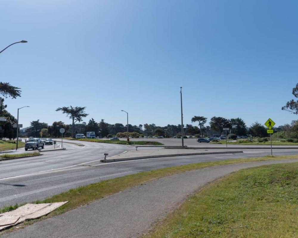 Lake Merced Boulevard, Sunset Circle Parking Lot and Sunset Boulevard (existing conditions)