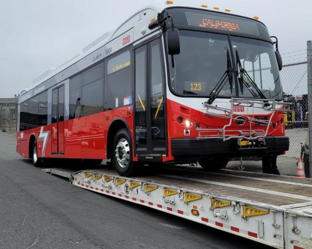 First BYD battery electric bus