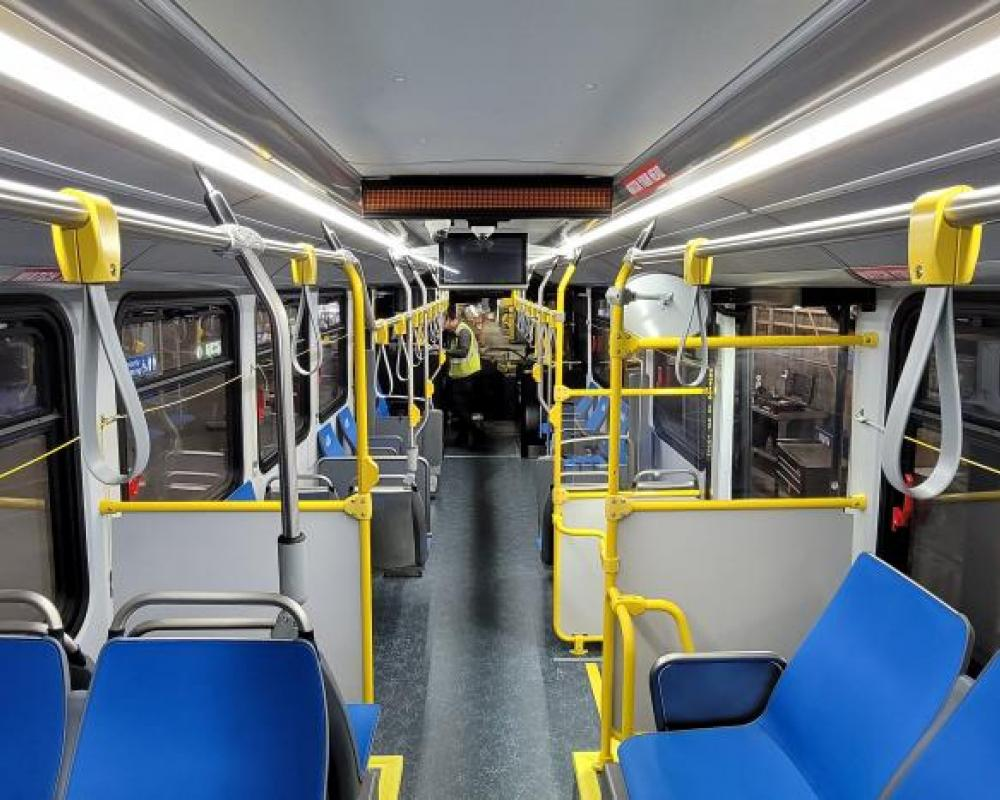 Inside the first new Proterra battery-electric bus