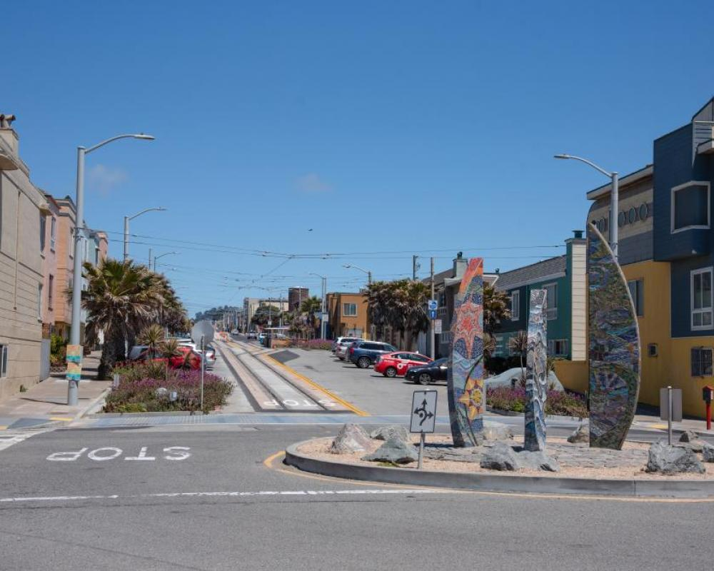 Photo of the L Taraval terminal at the Lower Great Highway