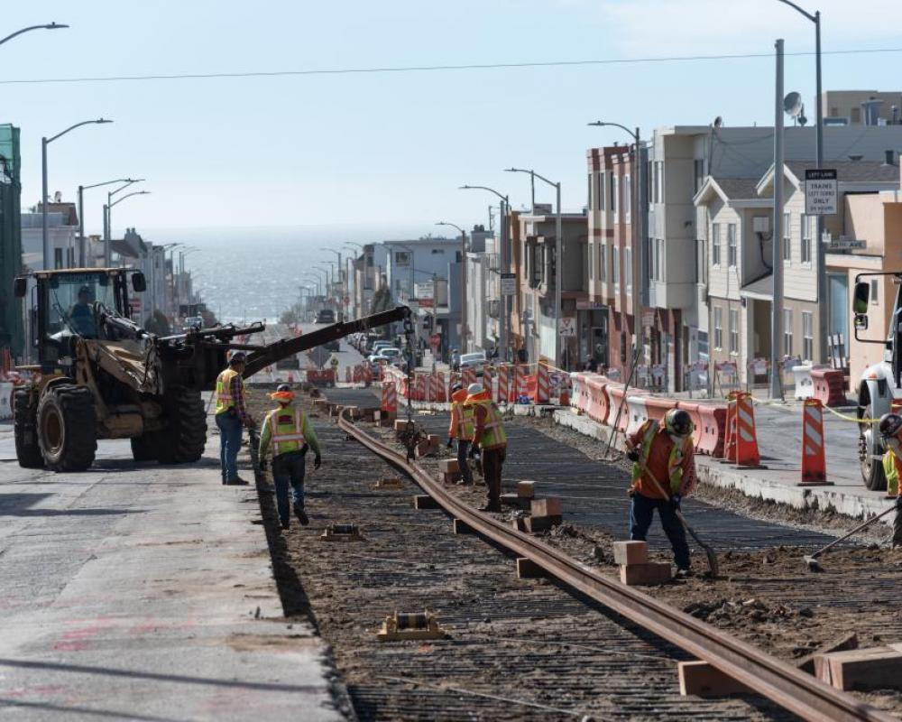 Photo of Track work taking place at 35th Avenue