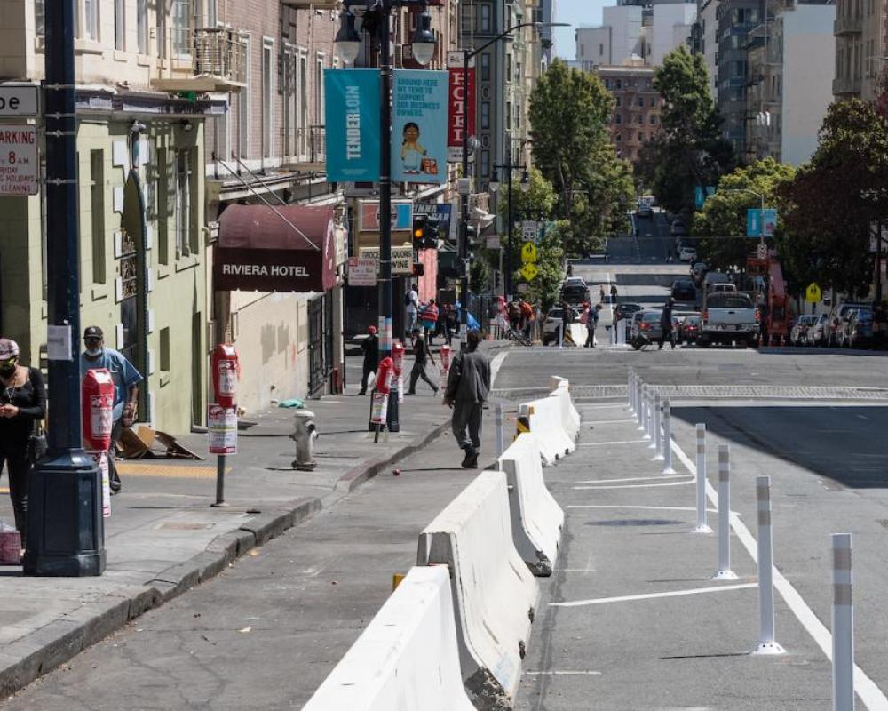 Jones Street Physical Distancing Lane August 2020