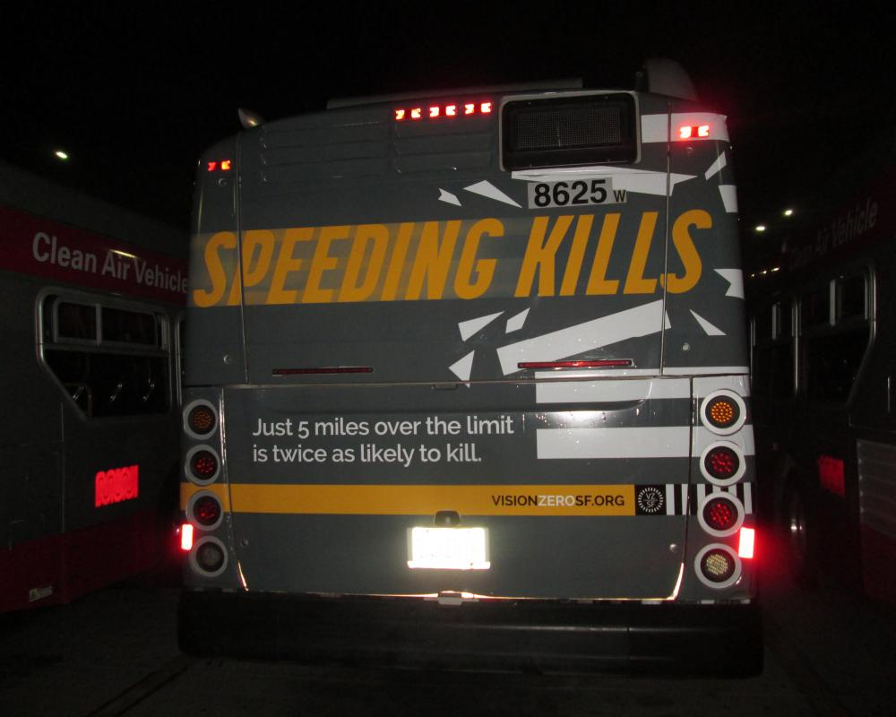 Ads on the back of Muni buses