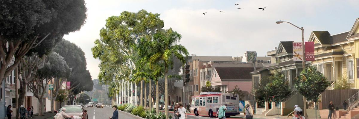 Image of what Potrero Avenue will look like after project