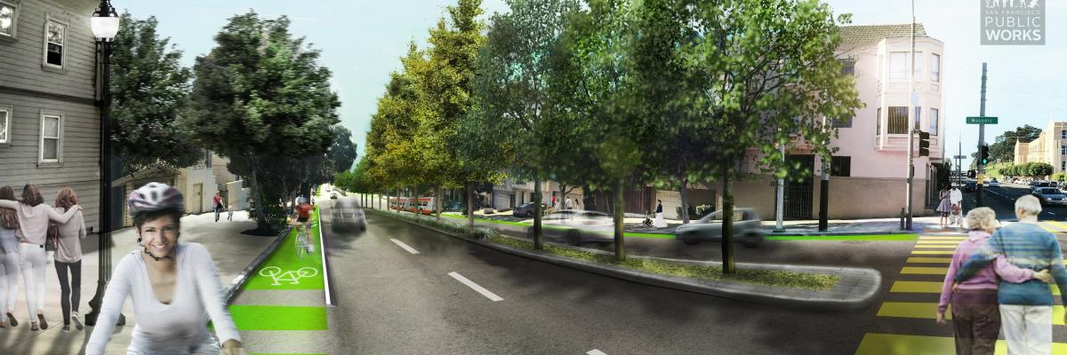 Rendering of Masonic Ave