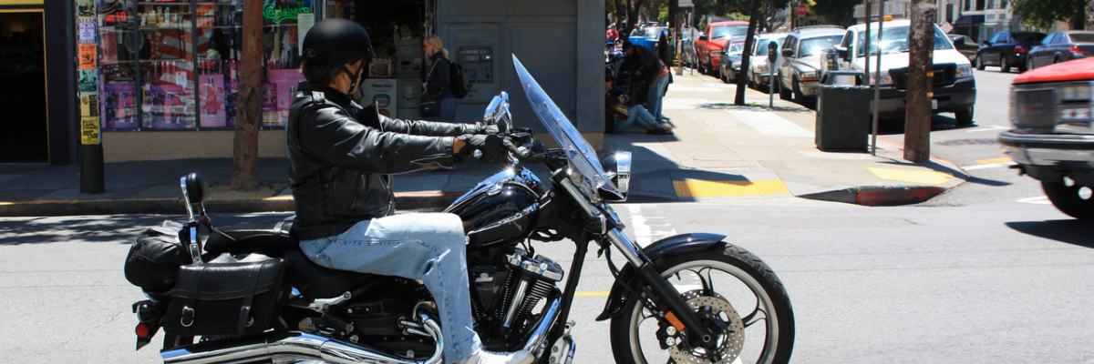 San Francisco motorcycle rider