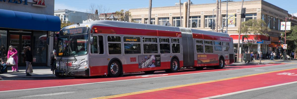 14R Mission Rapid bus Muni Forward Rapid