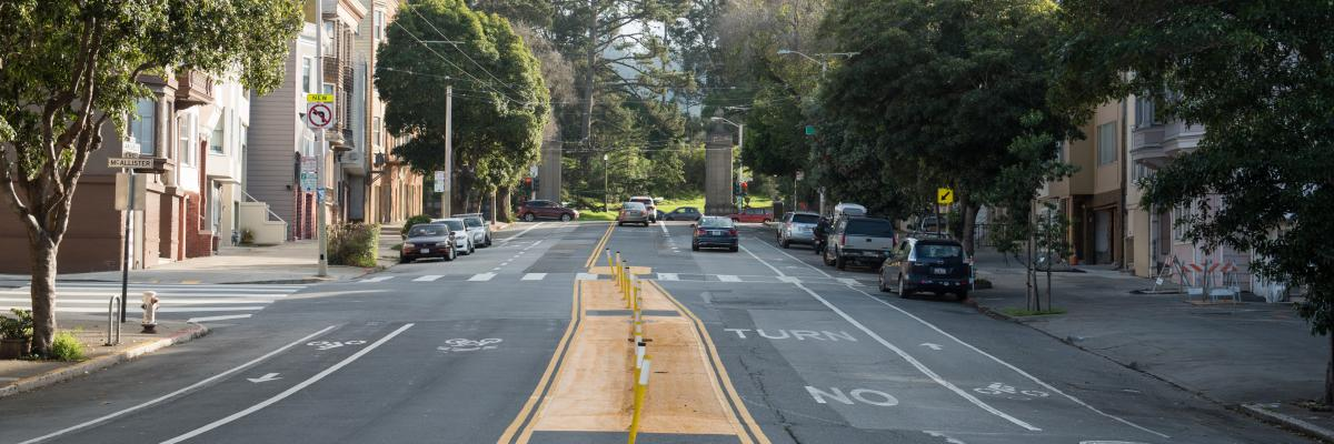 Photo of Arguello Blvd facing Golden Gate Park